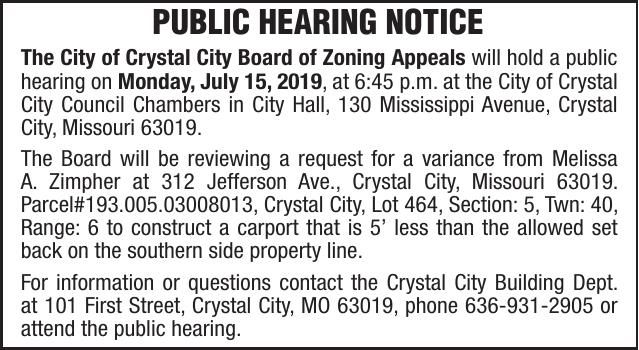 City of Crystal BZ 312 Jefferson Ave.