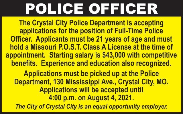 City of Crystal City Full Time Police Officer
