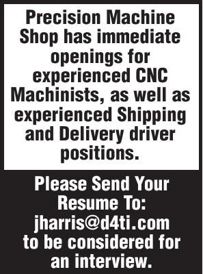 Designs For Tomorrow CNC Machinist Shipping