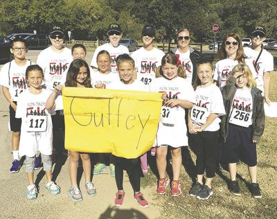 Guffey Elementary School students, staff and parents took part in the 2017 Fox Trot, winning a $500 grant.