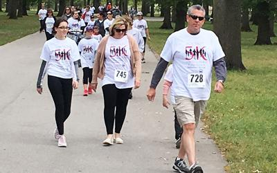 Dozens took part in the Fox Trot's 1-mile fun run/walk last year in Arnold City Park.