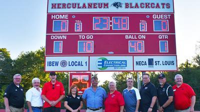 New Herky High scoreboard