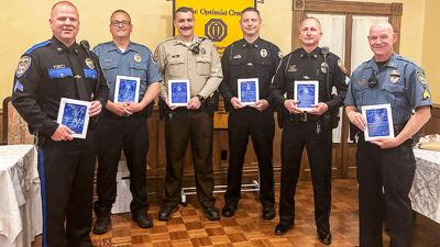 Twin City Area Optimist Club honors police officers