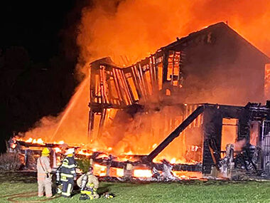 This home on Plattin Road south of Festus was destroyed in a fire.