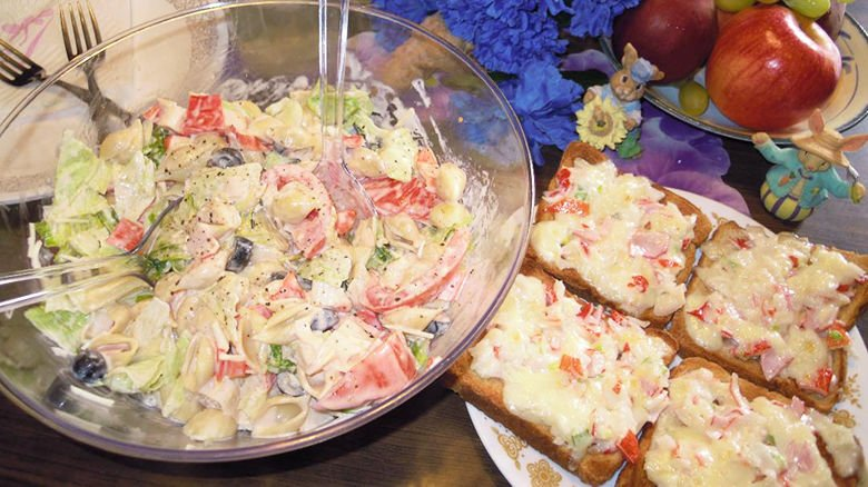 Zesty Seafood Salad, Open-Faced Seafood Sandwiches