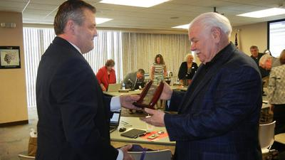 Ron Scaggs, a Jefferson College board member, received a Lifetime Achievement Award for Law Enforcement from U.S. Attorney Jeff Jensen of the United States Attorney's Office for the Eastern District of Missouri.