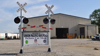Union Pacific car shops in De Soto