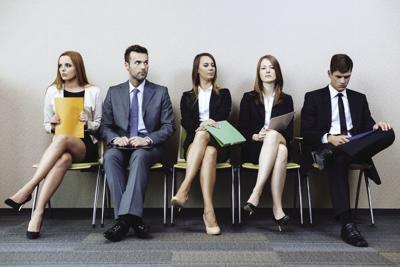 job fair candidates