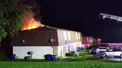 This apartment building on Westwood Drive in Festus was damaged by fire.