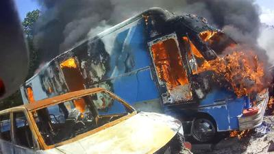 An RV parked at Ives Towing in Hillsboro was destroyed by fire.