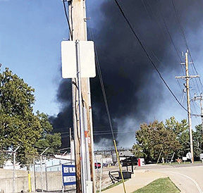 Tank catches fire at former Dow chemical plant in Pevely.