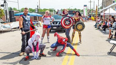 Superheros from Gateway Super Friends made an appearance in the parade for last year's Hillsboro Homecoming Festival.