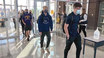 Eureka High students return to school