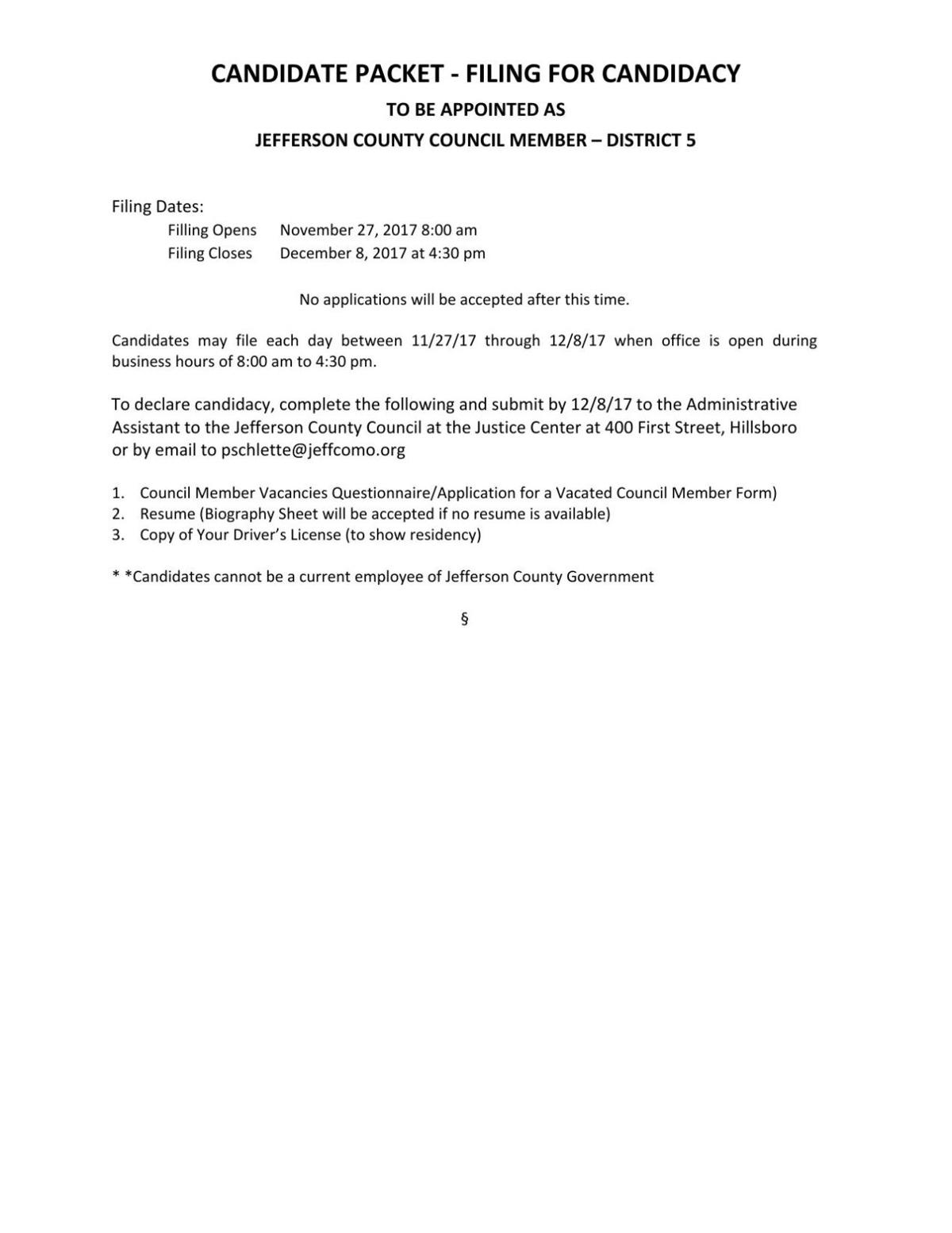 Candidate Application Formpdf Myleaderpaper