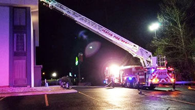 Firefighters were called to the La Quinta hotel in Festus, which was evacuated after a dryer caught fire.