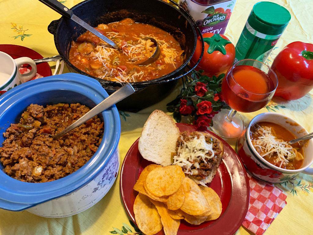 Spaghetti Soup, Sloppy Joes