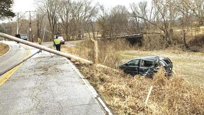 A section of Hwy. BB in Cedar Hill was shut down for a day after a vehicle struck a utility pole.