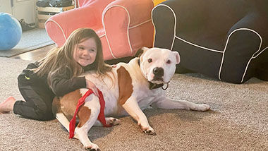 Brian Dearing of Pevely submitted this photo of his daughter, Lyla Dearing, 4, and the family dog, Olaf.
