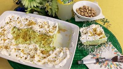 Pistachio Cream Puff Squares