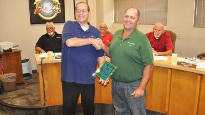 Stichling honored at De Soto council meeting
