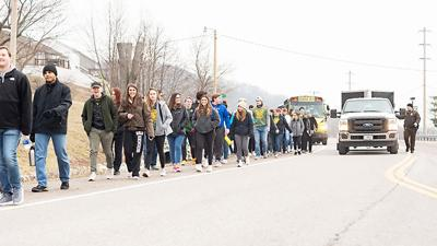 Students took part in last year's March for Hunger food drive.