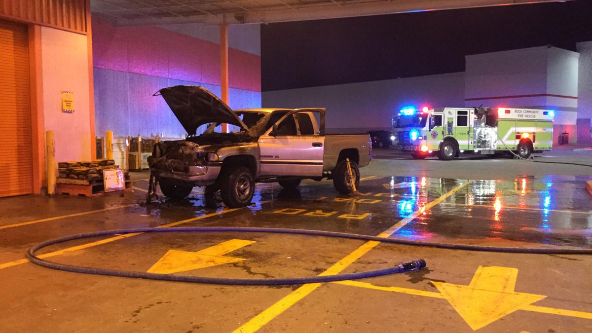 Pickup Catches Fire At Home Depot In Arnold Police Fire Myleaderpaper Com
