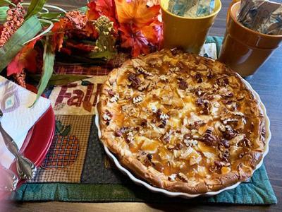 Caramel Apple Autumn Cheesecake