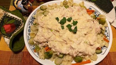 My Leader Yummy – One-Dish Smoked Turkey Pasta