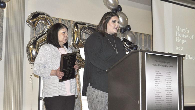 Alexis Lowery & Sylvia Daniels accept Drum Major Award.jpg