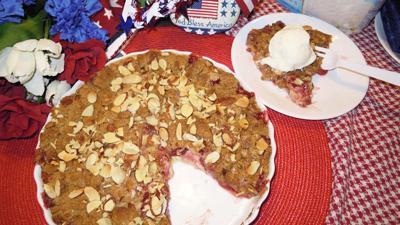 Cherry Almond Crumb Pie