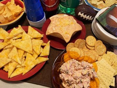 Zesty Ham Spread, Cheesy Crescent Nachos, Queso Chicken Dip