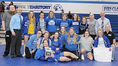 Northwest girls wrestling district champions