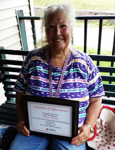 Malone woman donates blood for over 50 years to the American Red Cross
