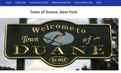 Duane website up and running