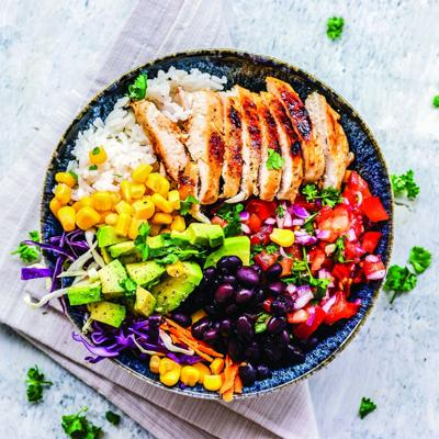 Three bean salad creates rainbow of vegetables