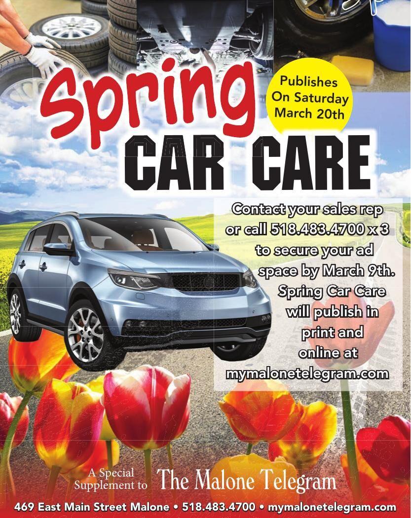 The Malone Telegram — Spring Car Care
