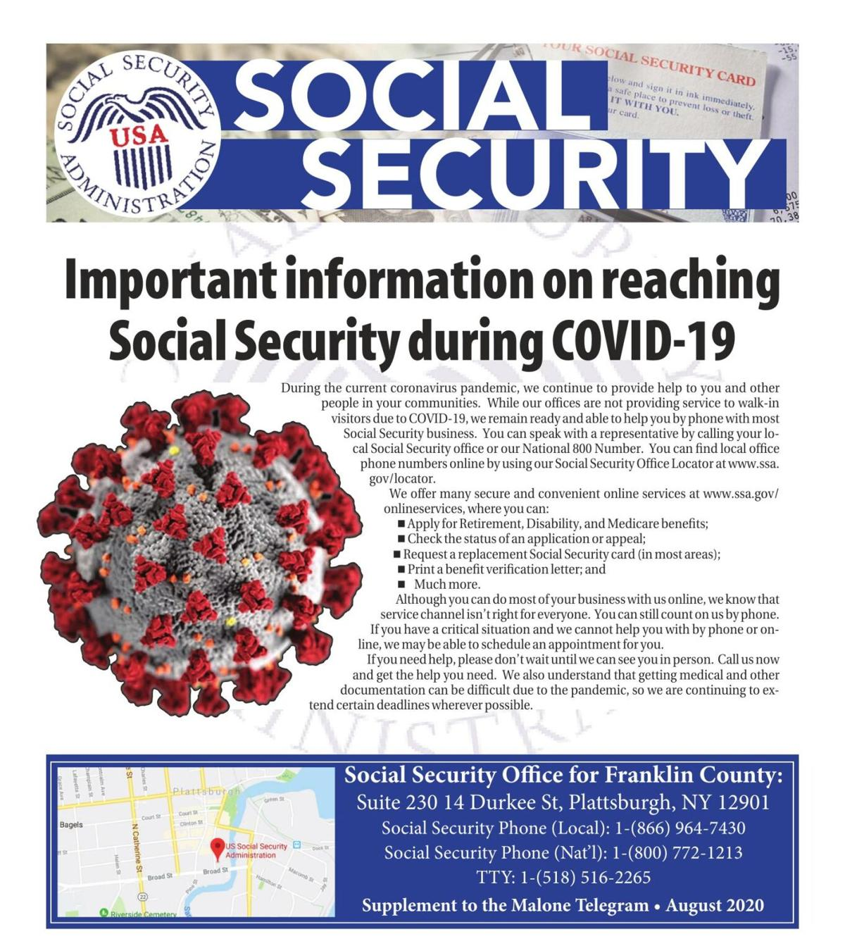 Social Security August 2020