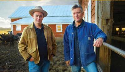 The Gibson Brothers performing at Chateaugay Town Hall Theatre