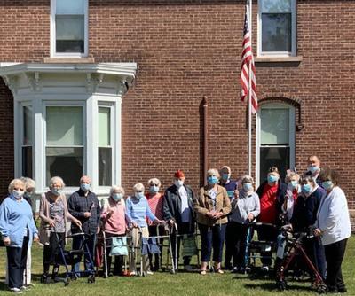 Flag Day Ceremony at Farrar Home