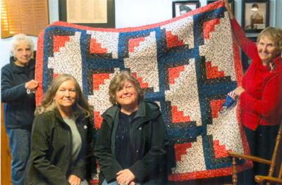 Donations presented by Saturday Morning Quilters
