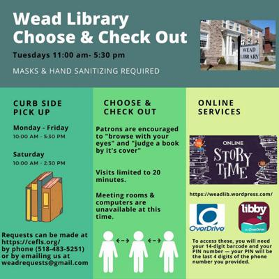 Wead Library events amid COVID-19
