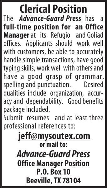 F-T OFFICE MANAGER