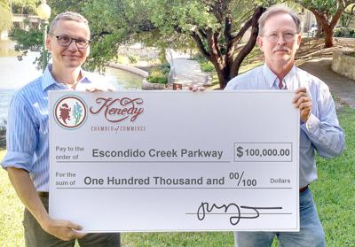 Kenedy Chamber of Commerce presents first installment for Escondido Creek Parkway Project