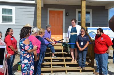Refugio woman moves back into her rebuilt home