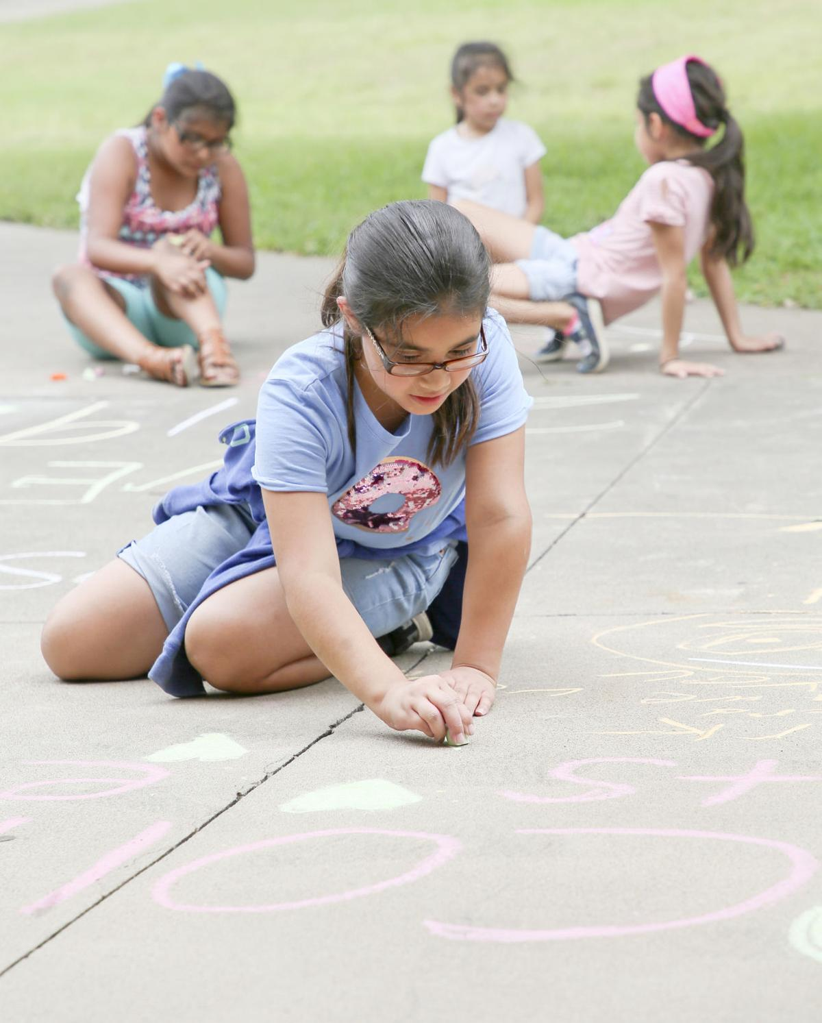 Chalking it up  for education