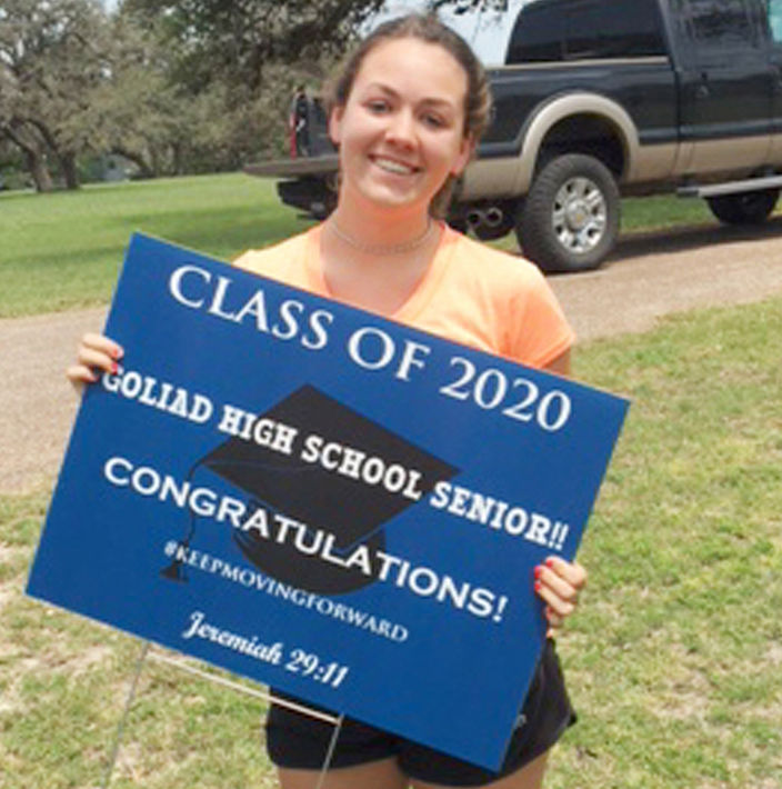 GHS seniors honored with honk parade