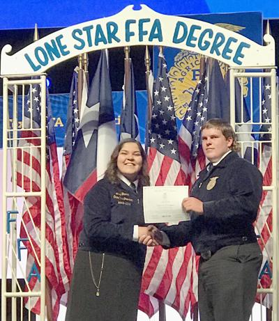 Local students awarded Lone Star Degree at FFA State Convention