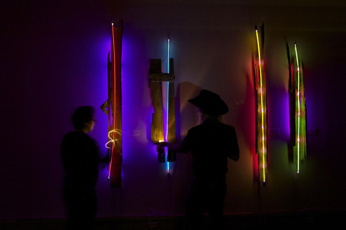 Spirits of the past come alive in neon art exhibit