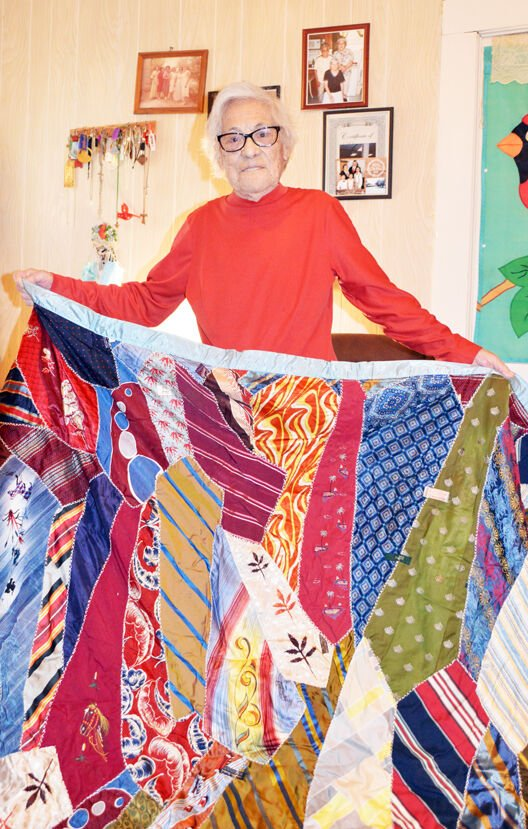 Chavez shows love, one stitch at a time