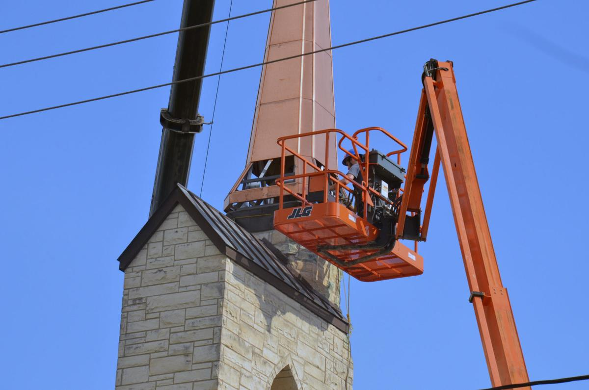Steeple chase, Spire replaced despite obstacles